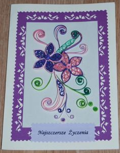 Piękna kartka urodzinowa wykonana przeze mnie ;) Zainteresowanych proszę o kontakt priv ;)