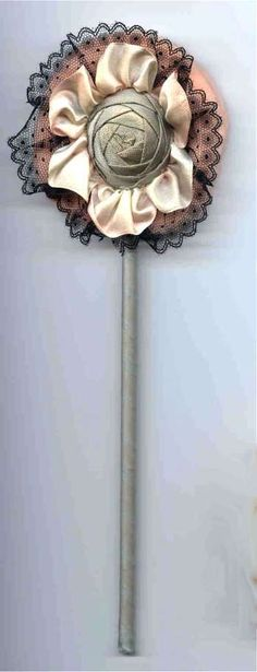 Milady's Vanity - Powder Puffs, Wands, Patters, Etc. Boudoir, Powder Puff, Ribbon Work, Silk Roses, Vintage Vanity, Rose Design, Vintage Handbags, Wands, Vintage Items