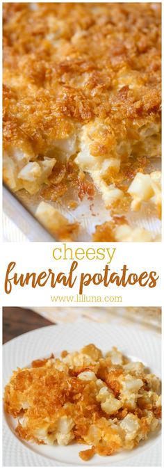 Our all-time favorite side dish – Cheesy Potato Casserole aka Funeral Potatoes Ingredients include frozen hash browns, cheese, corn flakes, cream of chicken soup, & butter! The post Funeral Potatoes appeared first on Woman Casual - Food and drink Side Dish Recipes, New Recipes, Cooking Recipes, Favorite Recipes, Cooking Tips, Easy Recipes, Comfort Food Recipes, Cooking Gadgets, Cream Recipes