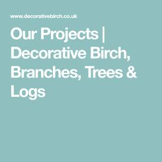 Our Projects   Decorative Birch, Branches, Trees & Logs