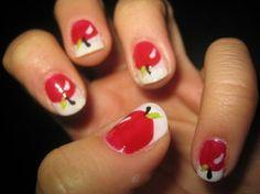 apple nails!! <3