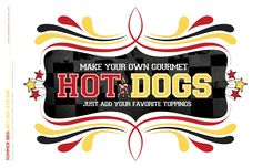 Vector Hot dog with condiments