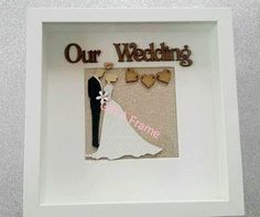 wedding hand made frames Wedding Hands, Wedding Bride, Our Wedding, Personalised Frames, Handmade Frames, Handmade Gifts, Canvas Quotes, Wedding Frames, Box Frames