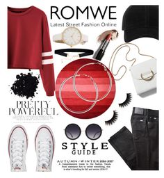 """Romwe#1"" by kainatsabir ❤ liked on Polyvore featuring BRAX, Converse, rag & bone, Alice + Olivia and Melissa Odabash"