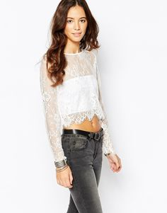 Goldie Glory Lace Crop Top
