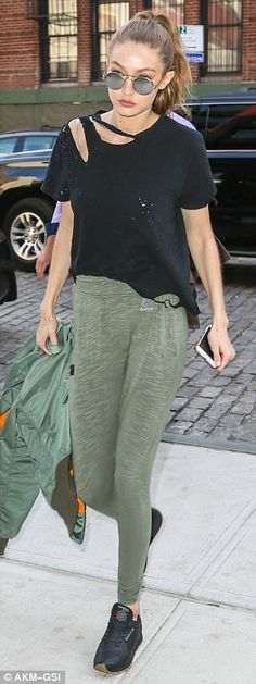 Busy Monday morning: Gigi Hadid and her mother Yolanda Hadid were both spotted out and abo...