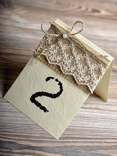 Wedding Table Number, Rustic Table Numbers, Burlap Table Number, Lace Table Number on Etsy, $3.80