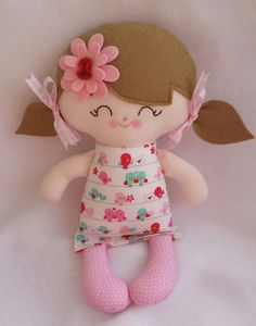 My friend Millya handmade cloth doll by DandelionWishesMimi