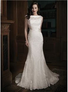 215.59 amodabridal.com.au SUPPLIES Floor-Length Scoop Sparkly Lace Ivory Wedding Dress Newcastle