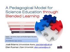 A Pedagogical Model for Science Education through Blended Learning #blendedlearning #teaching