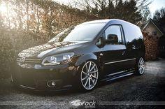 #Volkswagen #VW #Caddy mit #Brock #B37 #Alufelge in 8,5x19 5x112 ET45. Mit der Reifengröße 225-35-19 im Farbton Kristallsilber Voll-Poliert (KSVP)
