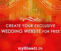 Create your exclusive wedding website at http://myshaadi.in?utm_source=pinterest_medium=website_campaign=pin