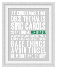 Printable Poster: Christmas Time Subway Art - Vertical 11x14 - Digital Wall Art - Printable Art