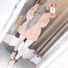 - scarf is a vital piece while in the clothes of ladies together with hijab. Hijab Fashion Summer, Modern Hijab Fashion, Street Hijab Fashion, Hijab Fashion Inspiration, Muslim Fashion, Mode Inspiration, Modest Fashion, Fashion Outfits, Fashion Fashion