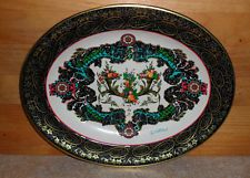 Vintage Daher Decorated Ware Metal Tin Oval Shaped Tray Made England By Putchand
