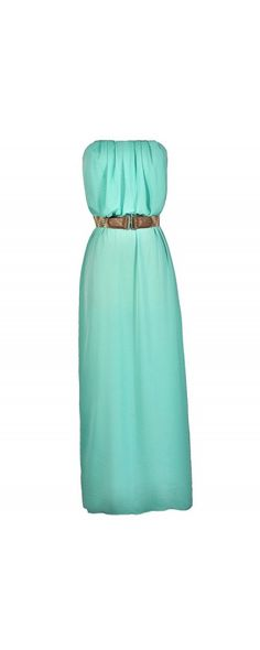 Island In Ibiza Belted Maxi Dress in Mint  www.lilyboutique.com