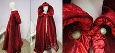 Red cloak by Firefly path Bridal Gowns, Wedding Gowns, Red Ridding Hood, Fairytale Fashion, Dress With Cardigan, Costume Design, Masquerade, Cosplay Costumes, Fantasy Costumes