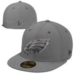 Mens Philadelphia Eagles New Era Black On-Field Player Sideline 59FIFTY Fitted Hat