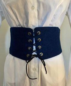 Corset Belt Waist Cincher Chic Trendy Denim