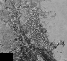 Pluto's surface Image of Pluto's Vast, Icy Plain Informally Called Sputnik Planum