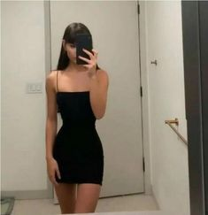 Sexy straps black short prom dress, mini homecoming dress T1511 by sweetdressy, $89.10 USD Trendy Outfits, Summer Outfits, Girl Outfits, Cute Outfits, Fashion Outfits, Fashion Blouses, Mode Kylie Jenner, Mode Hipster, Baggy Pants