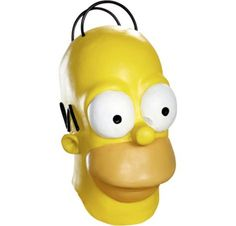 Homer Simpson Mask 8 1/2in x 17in - The Simpsons - Party City