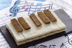 Piano keys sandwiches