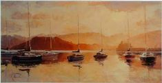 Dusk Yachts at Eastbourne by Richard Ponder. Dream about owning an original...