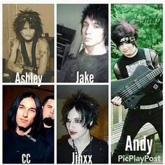 and may I just point out that Jinxx can pull off red lipstick better than I can XD just saying Black Viel Brides, Black Veil Brides Andy, Band Quotes, Band Memes, Emo Bands, Music Bands, Punk Rock, Andy Black, Falling In Reverse