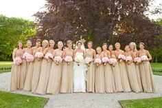 Dress Bridesmaid Champagne Color Schemes For 2019 Beige Bridesmaids, Fall Wedding Bridesmaids, Neutral Bridesmaid Dresses, Wedding Dresses, Champagne Colored Bridesmaid Dresses, Champagne Bridesmaids, Blue And Blush Wedding, Wedding Gold, Wedding Bells