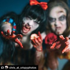 Another photo from this awesome Zombie  Disney shoot I worked one with a whole bunch of talented friends <3  #Repost @chris_at_crispyphotos with @repostapp  Ooooh.  No.  Let's get more #notoriety on the ig post.  Photo by me.  Shot with the fantastic - if loud - #sonyAlpha #85gm #gmaster #isthatdarthvaderbreathing or is it your lens. No it's my very expensive #lens (FYI which is now on sale used at bandH). #sonya7rii With @kelseyzuk and @karinefab  Other credits #MUA: @delalunabodypaint…
