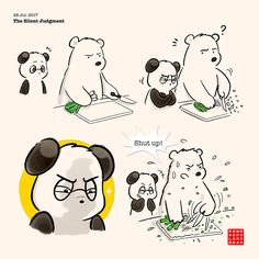 Panda and Polar Bear is a fuzzy little comic about a quirky cross-racial silly bear couple, who came from different parts of the world but . Polar Bear Drawing, Polar Bear Cartoon, Cute Panda Cartoon, Cute Couple Cartoon, Panda Love, Love Bear, Panda Panda, Amor Ideas, Baby Panda Bears