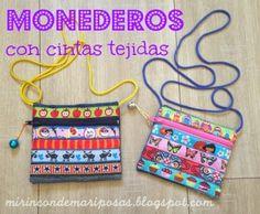 mi rincón de mariposas: Monederos con cintas (tutorial)