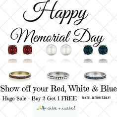 Shop:www.chloeandisabel.com/boutique/thecelticpearl   #MemorialDay #Sale #Free #B2G1 #Buy2Get1Free #freewithpurchase #gift #freegift #jewelry #fashion #accessories #shopping #shop #style #Summer #Summer2017 #trendy #trending #trend #boutique #chloeandisabel #thecelticpearl #redwhiteandblue #red #white #blue