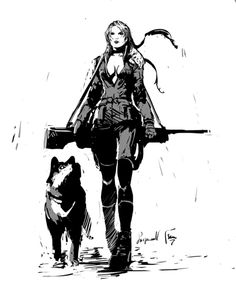 sniper wolf. was born on a battlefield. Raised on a battlefield. Gunfire, sirens and screams... They were her lullabies