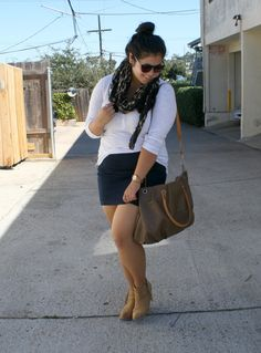 Plus size fall outfit in southern california
