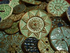 Handmade Ceramic Buttons by Flying Turtle Designs