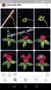 Needle Tatting Patterns, Irish Crochet Patterns, Embroidery Stitches, Hand Embroidery, Filet Crochet, Crochet Motif, Learning To Embroider, Needle Lace, Lace Making