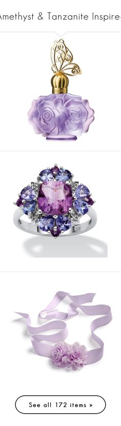 """Amethyst & Tanzanite Inspired"" by xsumire ❤ liked on Polyvore featuring beauty products, fragrance, perfume, beauty, purple, filler, no color, perfume fragrance, fruity perfume and anna sui fragrance"