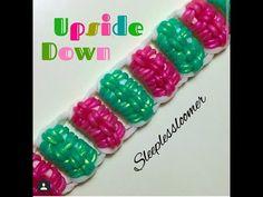 Rainbow Loom Bracelets Easy, Rainbow Loom Tutorials, Rainbow Loom Patterns, Rainbow Loom Creations, Rainbow Loom Charms, Bead Loom Bracelets, Macrame Bracelets, Loom Band Patterns, Loom Bracelet Patterns
