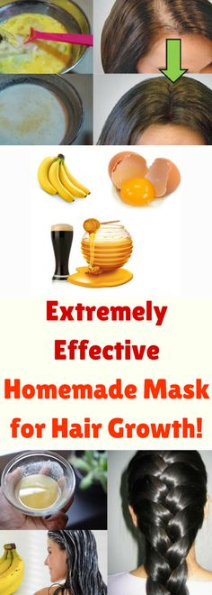 Extremely Effective Homemade Mask for Hair Growth! Yogurt For Hair, Yogurt Hair Mask, Protein Hair Mask, Homemade Mask, Rich In Protein, Beauty Recipe, Natural Home Remedies, Damaged Hair, Health Remedies