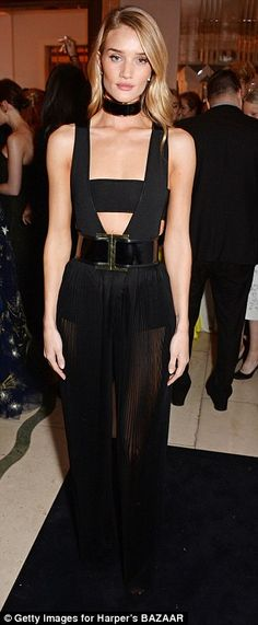 Margot Robbie and Rosie Huntington-Whiteley lead the way at Harper's #dailymail