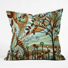 Madart Inc. Venturing Out Throw Pillow | DENY Designs Home Accessories