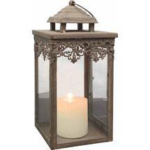 Walmart: Parisian Market Candle Lantern, Rusted Zinc