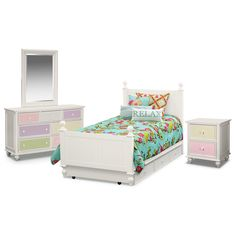 Taylor Pink Kids Furniture Collection Furniture Com Pink