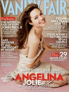 In an interview in the June 2005 issue of 'Vanity Fair,' Angelina Jolie denied that she had said she was a shoulder for Brad Pitt to cry on after the breakup of his marriage.