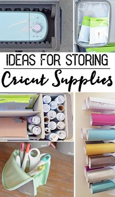 Ideas for Storing Cricut Supplies and Accessories AD #Cricut @cricut
