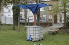 How To Make A Standalone Rainwater Collector...http://homestead-and-survival.com/how-to-make-a-standalone-rainwater-collector/