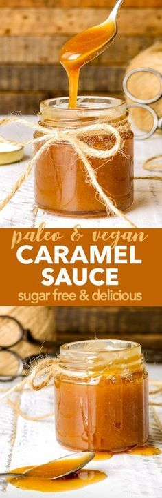 Paleo & Vegan Caramel Sauce {gluten, dairy, egg, soy, nut & refined sugar free, vegan, paleo} - This paleo & vegan caramel sauce is a true revelation. Healthy, dairy free and refined sugar free, it doesn't quite seem possible – but it is. And it's delicious. The recipe is quick and easy – 3 ingredients, 5 minutes and let's say it's single serving, shall we? Add a pinch of salt to make a vegan salted caramel sauce!