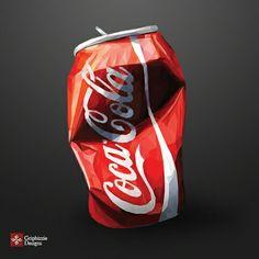 Polygon  Art - coca Cola